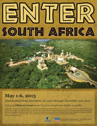 South Africa Trip Flier