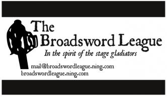 Business card design, Bradley L'Herrou, Broadsword League