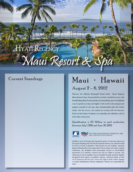 Maui Trip Flier