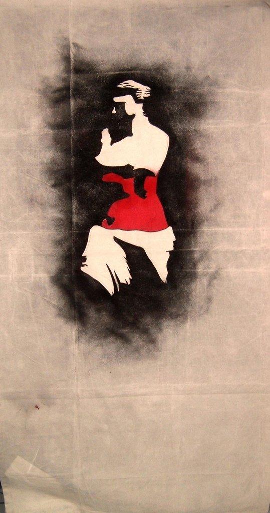 Venus De Cola stencil art, Bradley L'Herrou