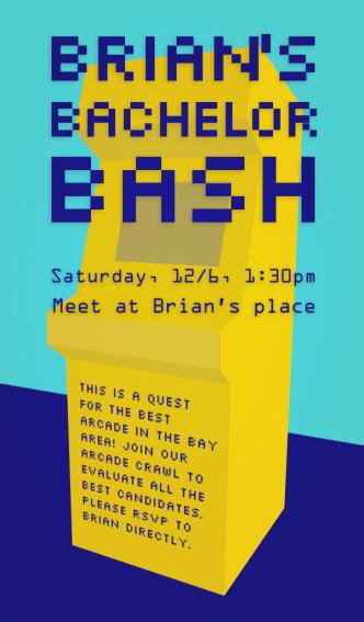 Bachelor party invitation design - Bradley L'Herrou
